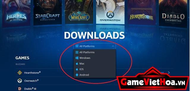 Bấm chọn hệ điều hành phù hợp để tải StarCraft Remastered về máy tính