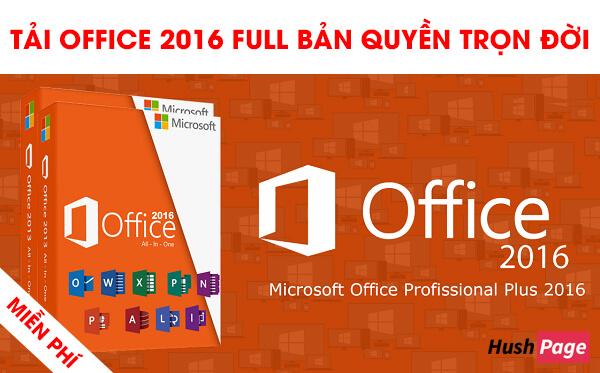 tải office 2016 bản quyền miễn phí trọn đời