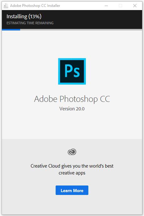 cài đặt photoshop cc 2019 bước 5.1