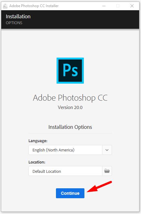 cài đặt photoshop cc 2019 bước 5
