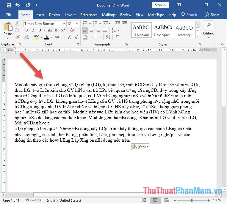 Font chữ copy từ PDF sang Word bị lỗi toàn bộ và không thể dịch được từ nào