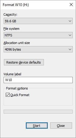 Format ổ USB Flash Drive sang định dạng file khác