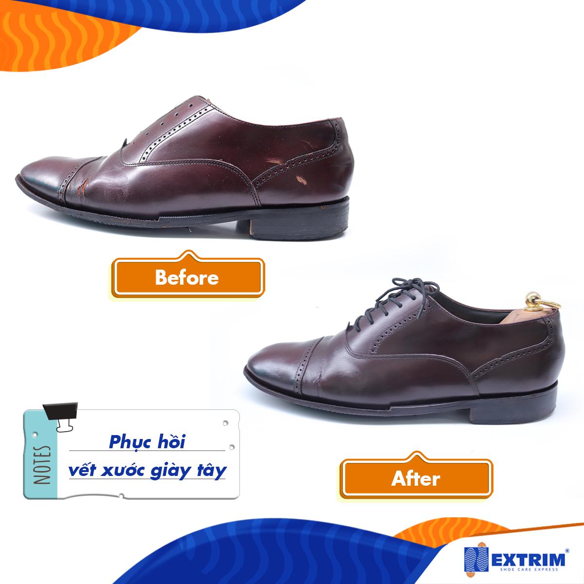 Phục hồi giày da bị bong tróc, bị xước tại Extrim