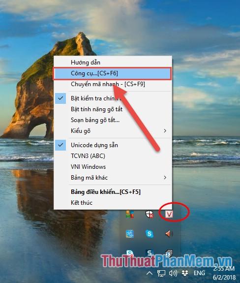 Sao chép nội dung văn bản cần sửa lỗi - Mở bảng công cụ chuyển đổi